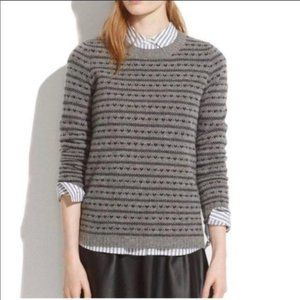 Madewell Merino Wool Heart Stripe Pullover Sweater